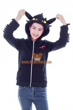 Toothless The Dragon 2016 Kigurumi Hoodie