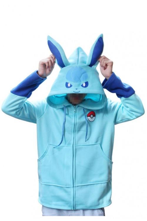 Pokemon Go Kigurumi Glaceon Hoodie