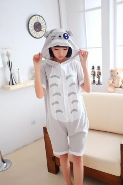Totoro Kigurumi Short Sleeve Pajamas