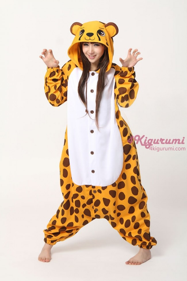 4kigurumi animal onesie cheetah onesie