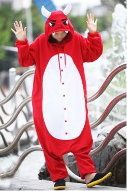Red Evil Onesie Halloween Pajamas