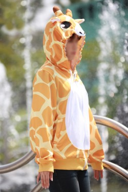 Giraffe Kigurumi LS Hoodie