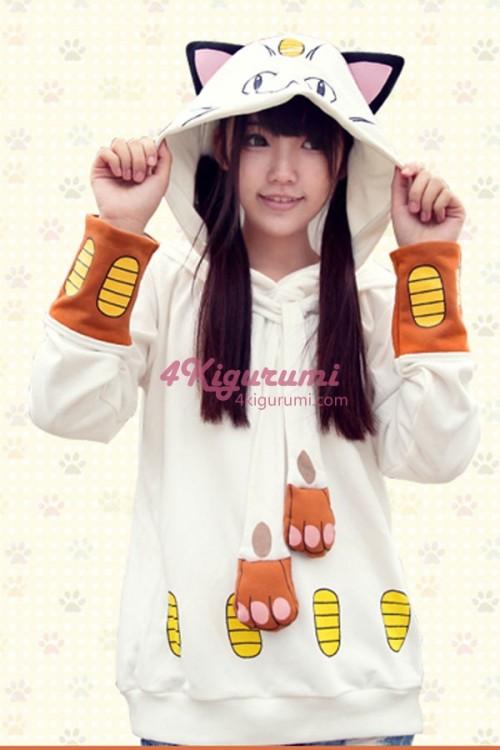 Pokemon Meowth Kigurumi Cute Hoodie