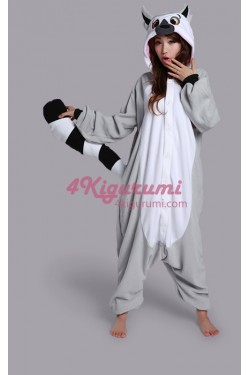 Lemur Onesie Animal Costume Kigurumi Pajamas