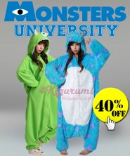 Monsters University Sulley and Mike Onesies Kigurumi Pajamas