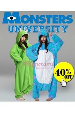 Monsters University Sulley and Mike Onesies Kigurumi Pajamas
