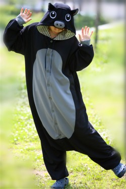 Black Pig Onesie Animal Costumes Kigurumi Pajamas