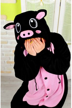 Black Pig Kigurumi Animal Onesie