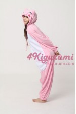 Fleece Pink Pig Kigurumi Animal Onesie