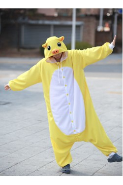 Yellow Pig Onesie Animal Costumes