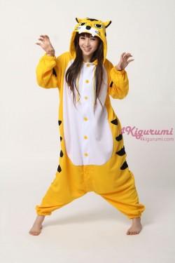 Yellow Tiger Onesie Animal Costumes Kigurumi Pajamas