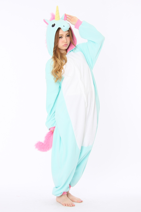 blue unicorn kigurumi animal onesie 4kigurumicom