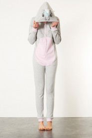 Grey Unicorn Kigurumi Onesie
