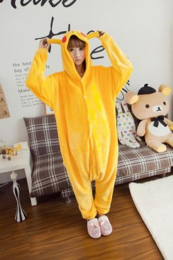 Flannel Pikachu Kigurumi Lovers Pokemon Pajamas