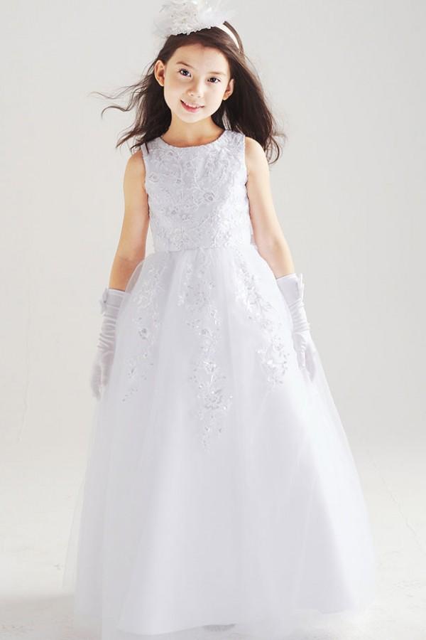 Snow white satin organza flower girl dress 4kigurumi snow white satin organza flower girl dress mightylinksfo Gallery
