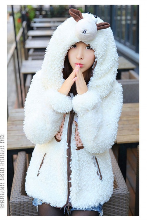 lovely sheep animal hoodie