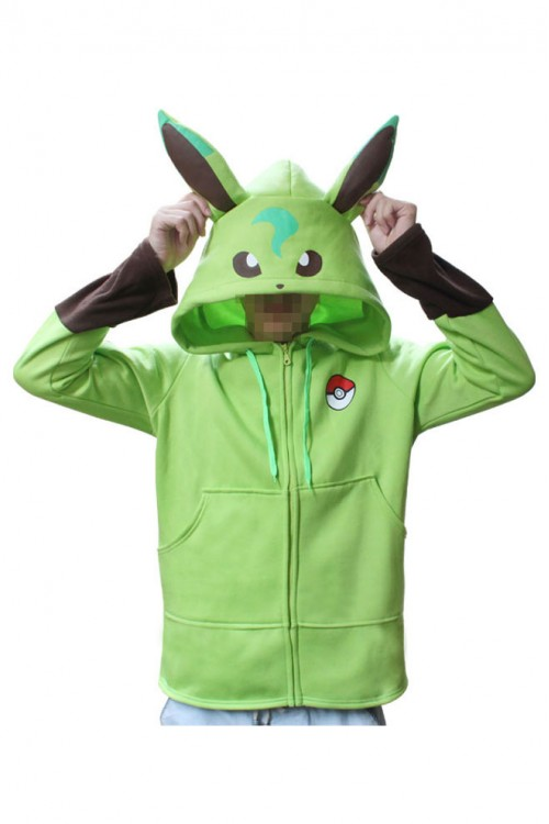 Pokemon Go Kigurumi Leafeon Hoodie