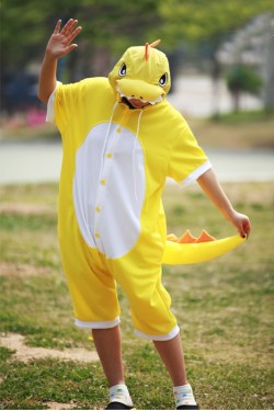Yellow Dragon Onesie Party Pajamas