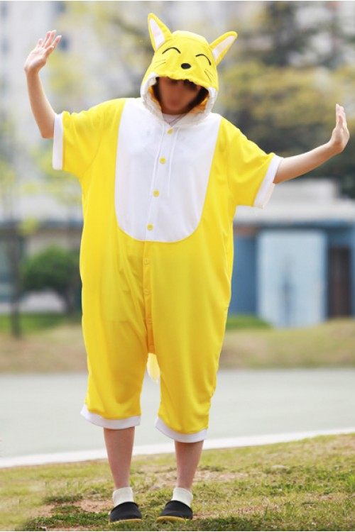 Yellow Fox Onesie Party Costumes