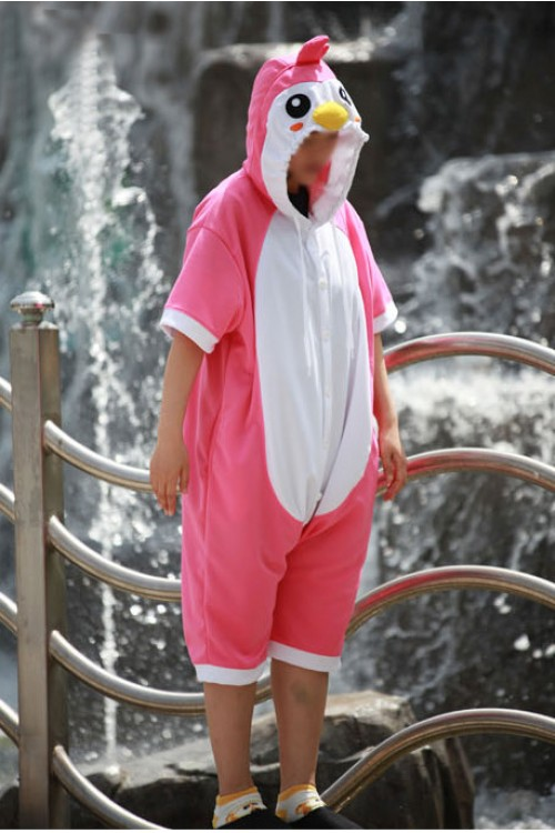 Pink Penguin Onesie Party Costumes