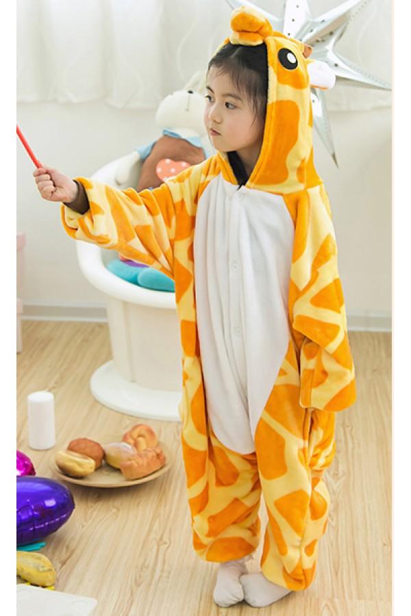 2769859c5e Flannel Giraffe Kigurumi Kids Onesies - 4kigurumi.com