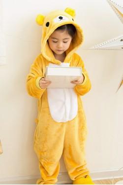 Flannel Rilakkuma Kigurumi Kids Bear Onesies