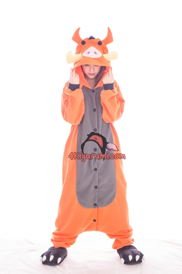 Pumbaa Kigurumi The Lion King Costumes  sc 1 st  4kigurumi - Animal Onesies & Pumbaa Kigurumi The Lion King Costumes - 4kigurumi.com