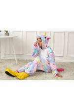 Flannel Phantasy Star Unicorn Kigurumi Pajamas