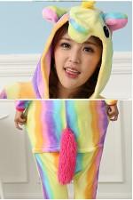 Flannel Rainbow Unicorn Kigurumi Pajamas