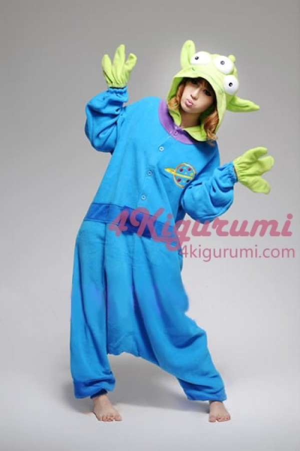 ba04315b5e2e Little Green Men Kigurumi Animal Onesie - 4kigurumi.com
