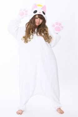 Angel Nyan Cat Onesie Kigurumi Pajamas