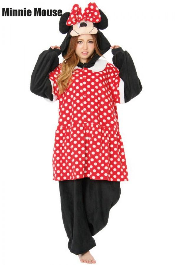 e83f2537b0b Disney Minnie Mouse Onesie Kigurumi Pajamas - 4kigurumi.com