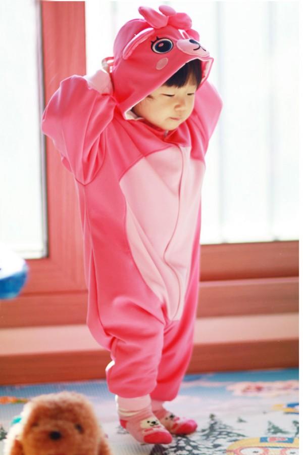 Pink Bear Baby Animal Onesie 4kigurumi Com
