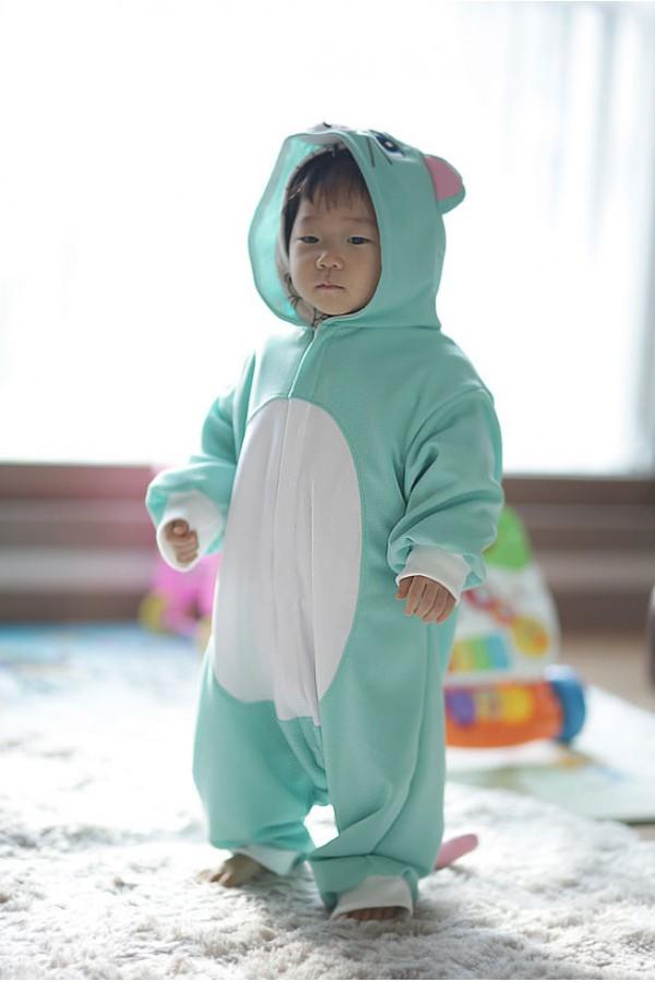 Blue Cat Baby Animal Pajama Kigurumi