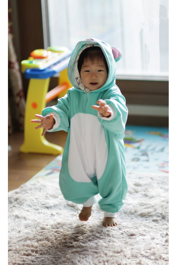 Blue Cat Baby Animal Pajama 4kigurumi Com