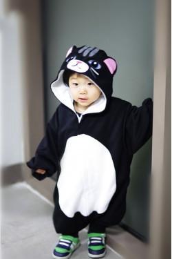 Black Cat Baby Kigurumi Onesie