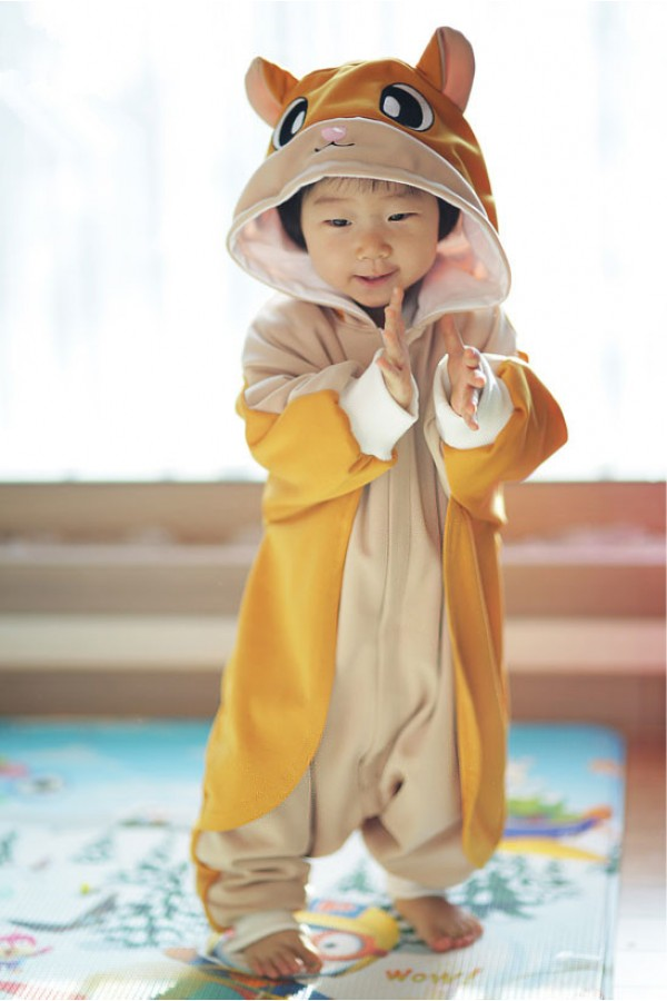 Gold Flying Squirrel Baby Animal Onesie 4kigurumi Com