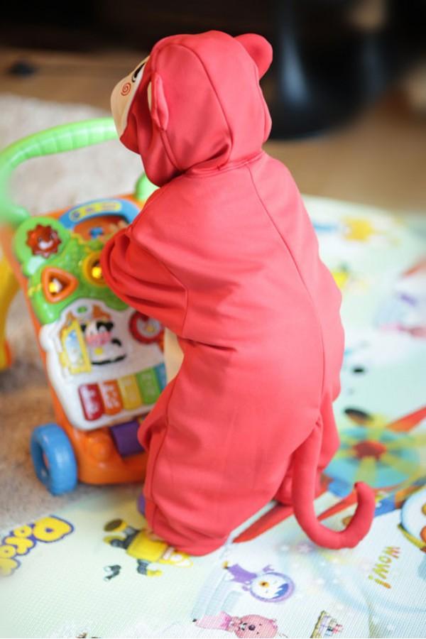 Red Monkey Baby Animal Onesie 4kigurumi Com