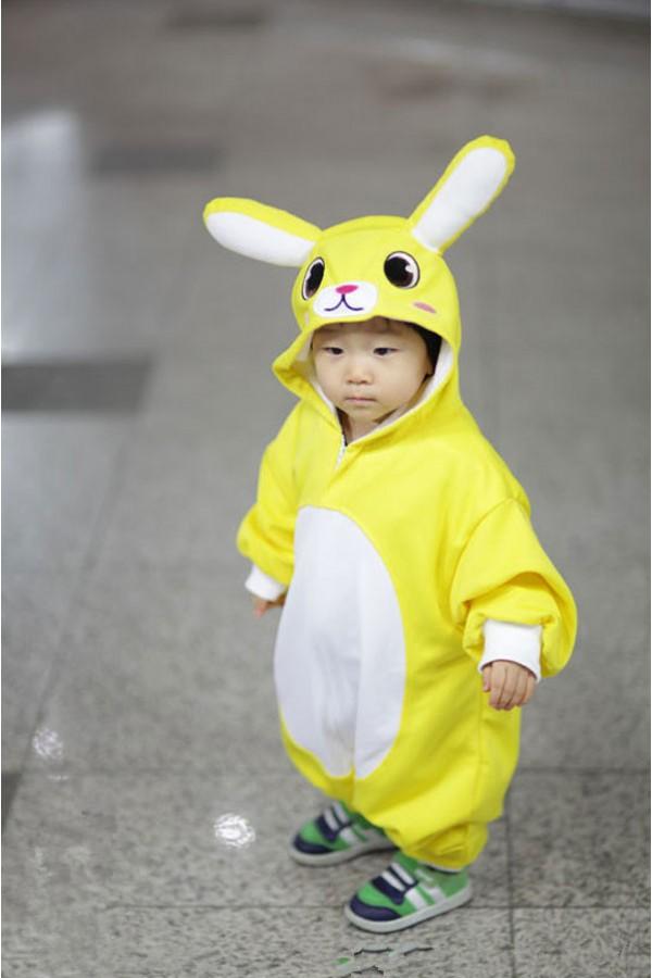 Yellow Bunny Baby Animal Onesie 4kigurumi Com