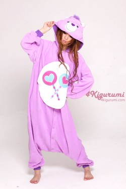 Bedtime bear footed pajamas for adults