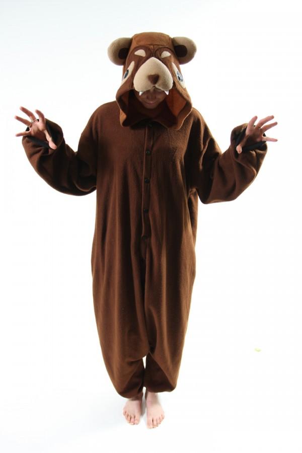 Brown Bear Onesie Kigurumi Pajamas - 4kigurumi.com 348fc8603570