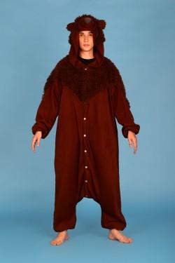 Brown Teddy Bear Onesie Kigurumi Pajamas
