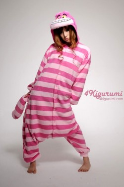 Disney Alice Wonderland Cheshire Cat Kigurumi Onesie