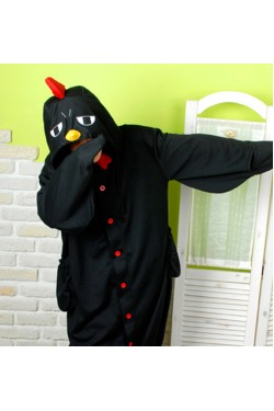 Black Chicken Kigurumi Animal Onesie