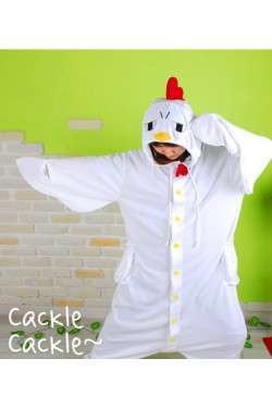 White Chicken Kigurumi Animal Onesie
