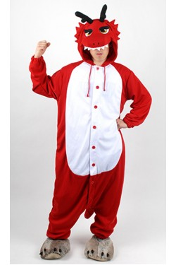 Red Dragon Kigurumi Halloween Onesie