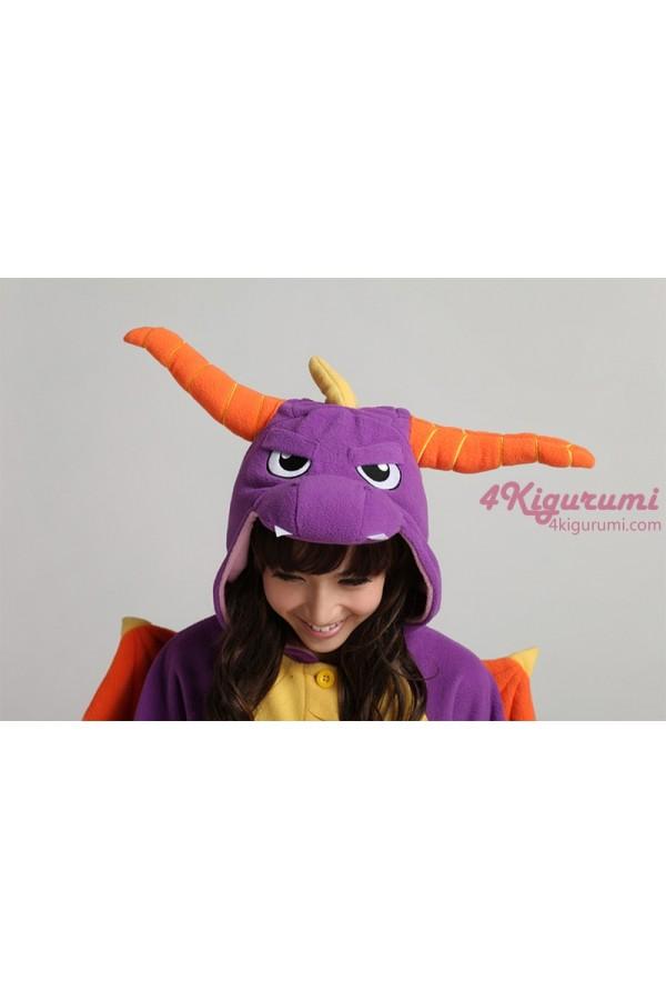 Royal Dragon Spyro The Dragon Onesie Costume Kigurumi Pajamas ... d1db0060c
