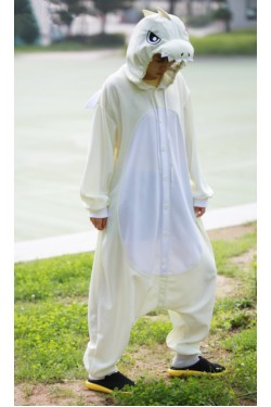 White Dragon Onesie Animal Costumes