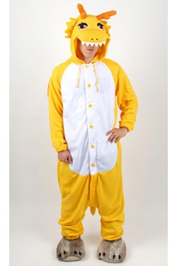 Yellow Dragon Kigurumi Halloween Onesie