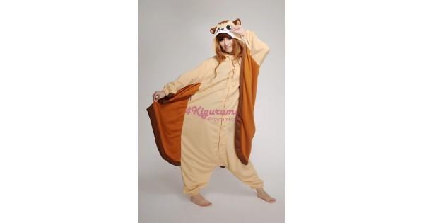 508d19860be6 Flying Squirrel Onesie Animal Costumes Kigurumi Pajamas - 4kigurumi.com